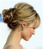 Cute and easy updo.