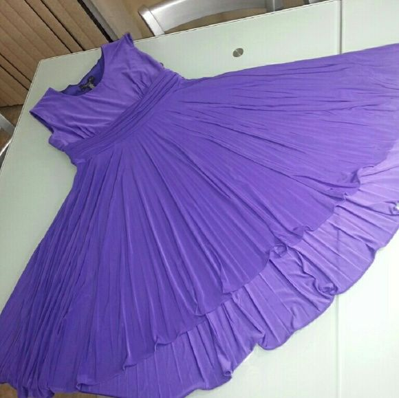 R&M Richards dress Purple in color , little above the knee. High front and low back. Amazing flare. R&M Richards  Dresses High Low