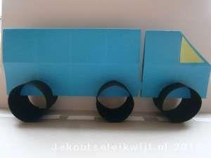 Verkeer vrachtwagen vouwen 16 vierkantjes
