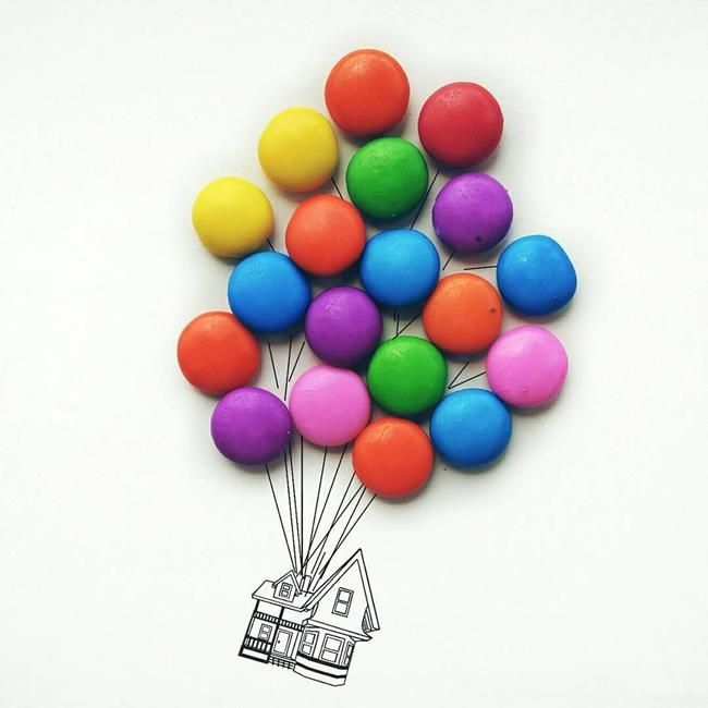 Gündelik Eşyalar ve Yiyecekler ile Oluşturulmuş Birbirinden Yaratıcı 20+ Çalışma Sanatlı Bi Blog 27