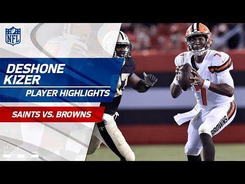 Every DeShone Kizer Throw Against New Orleans   Saints vs. Browns   Preseason Wk 1 Player Highlights - YouTube