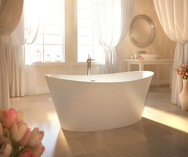 Evanescence Oval 6636 Therapeutic Bathtub By @BainUltra: This Collection Of  Freestanding Bathtubs Boasts Sleek
