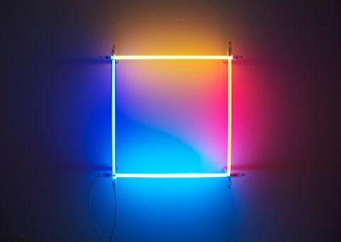 Christian Herdeg: Neon/Argon square 2011, Neon and Argon light tubes, H 66 x W 66 x D 16 cm