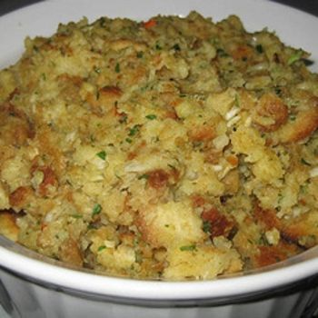 almost here! - sharing some of the foods my family has for Thanksgiving - stuffing
