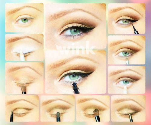 """Nudia vás každodenné hnedé očné tiene? Vyskúšajte """"glamour"""" hnedé líčenie. STEP BY STEP s Wink! http://wink.sk/beauty/makeup/step-by-step-hnede-glamour-licenie.aspx"""