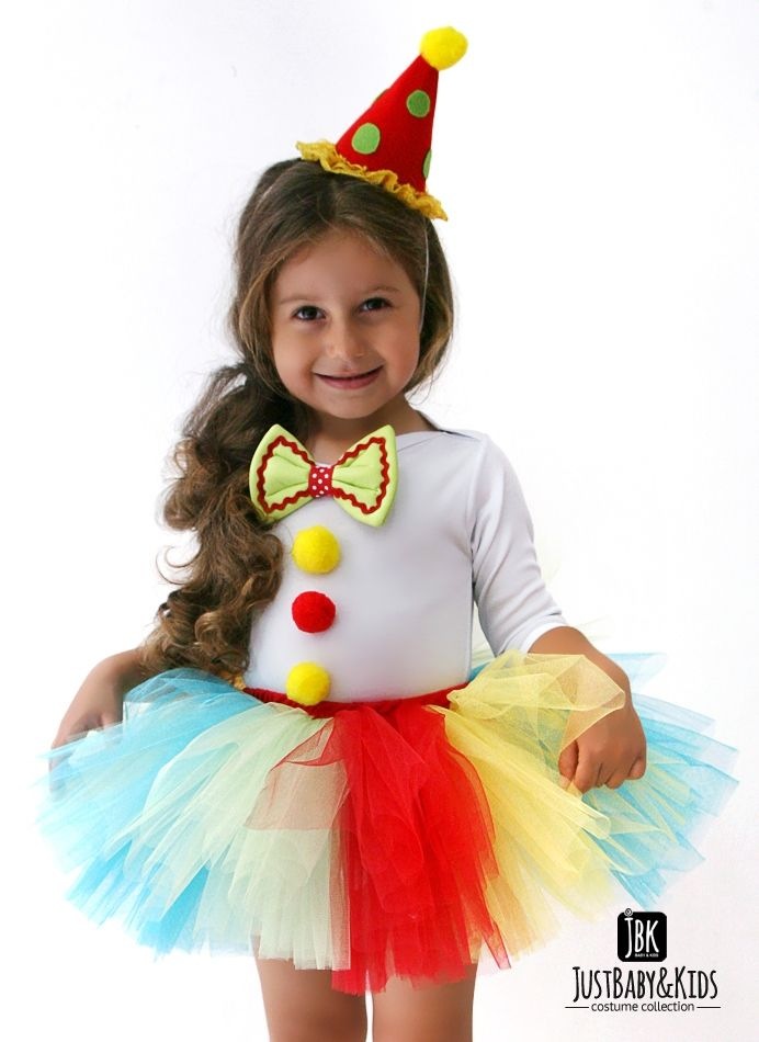 CCK18 Palyaço Kız Tütü Kostüm Just Baby & Kids - Bebek ve Çocuk Kostüm - Giyim