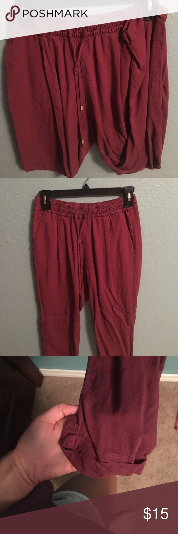 Nice maroon joggers :) Super comfy and show your curves on! Old Navy Pants Jumpsuits & Rompers