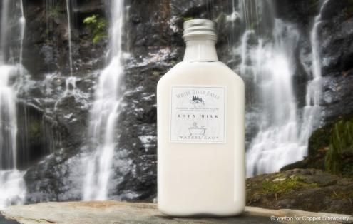 Waterl'eau 'White River Falls' Body Milk with witch hazel extracts to soften the skin. http://www.copperstrawberry.com/european-furniture/waterleau-bathroom-usa/waterleau-white-river-falls/catalog/Waterleau-white-river-falls-body-milk-lotion Made in France. Waterl'eau of Belgium luxury bath cosmetics at Copper Strawberry www.copperstrawberry.com Photographed in Glenariff Forest, N. Ireland, UK, exclusively for Copper Strawberry. #waterleau #WhiteRiverFalls #bodymilk
