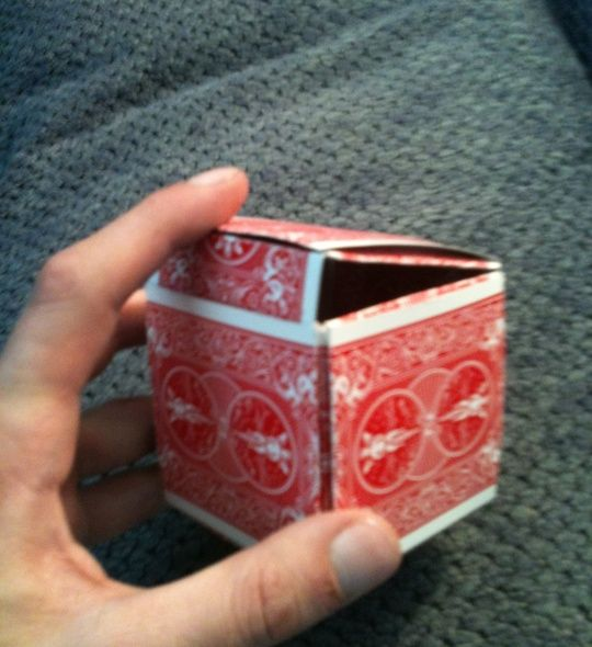 How to Make a Gift Box Out of Playing Cards by Ron Jaxon