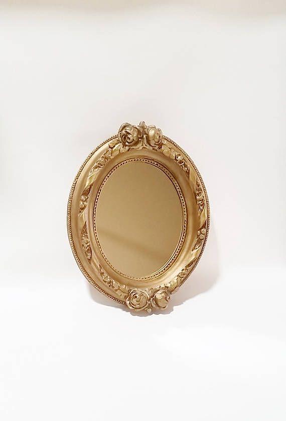 Gold Wall Mirror Hollywood Regency Mirror Decorative Wall