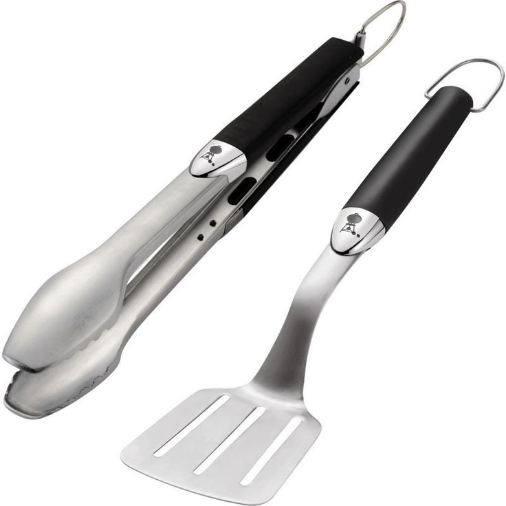 Weber Two-Piece Portable Grill Tool Set, Silver