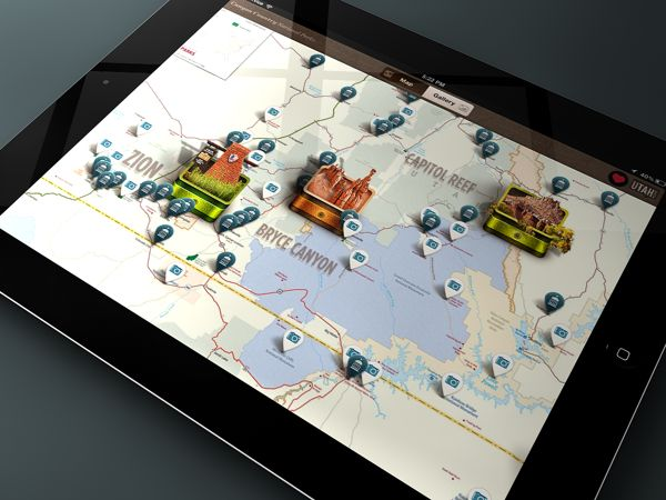 Canyon Country National Parks for iPad by Rally Interactive , via Behance