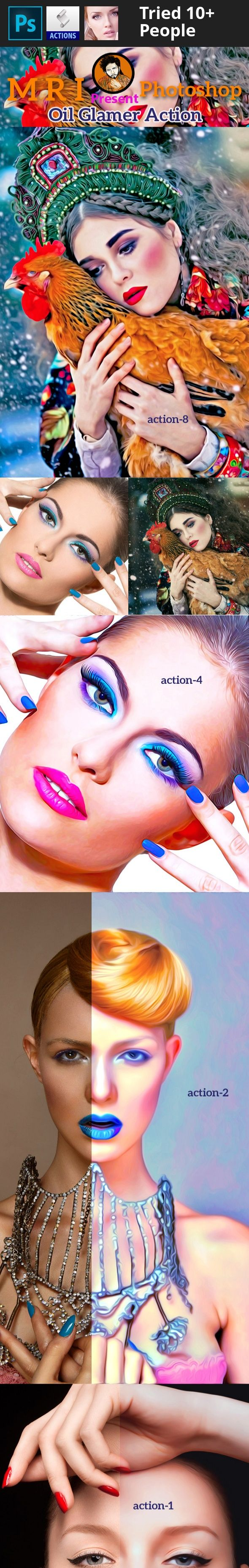 art, artist, color modify, color tone, color variation, comics, digital art, flayer action, fresh action, HDR Action, Image actions, image effects, images, movie poster, mri action, mri art, oil action, oil art, photo editor, pop art   D ARTIST MRI …... Presenting….Oil Glamer Action /strong>   Product : Oil Glamer Action Publish : Graphic River.   Publish Date :   Photos :  Working Software Version : CS6 English Version.   Software  support version : CS6, English Version.   Not:...