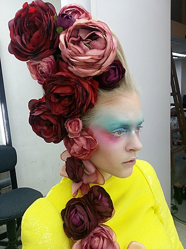 Beautiful Roses | Headpiece | photo shoot