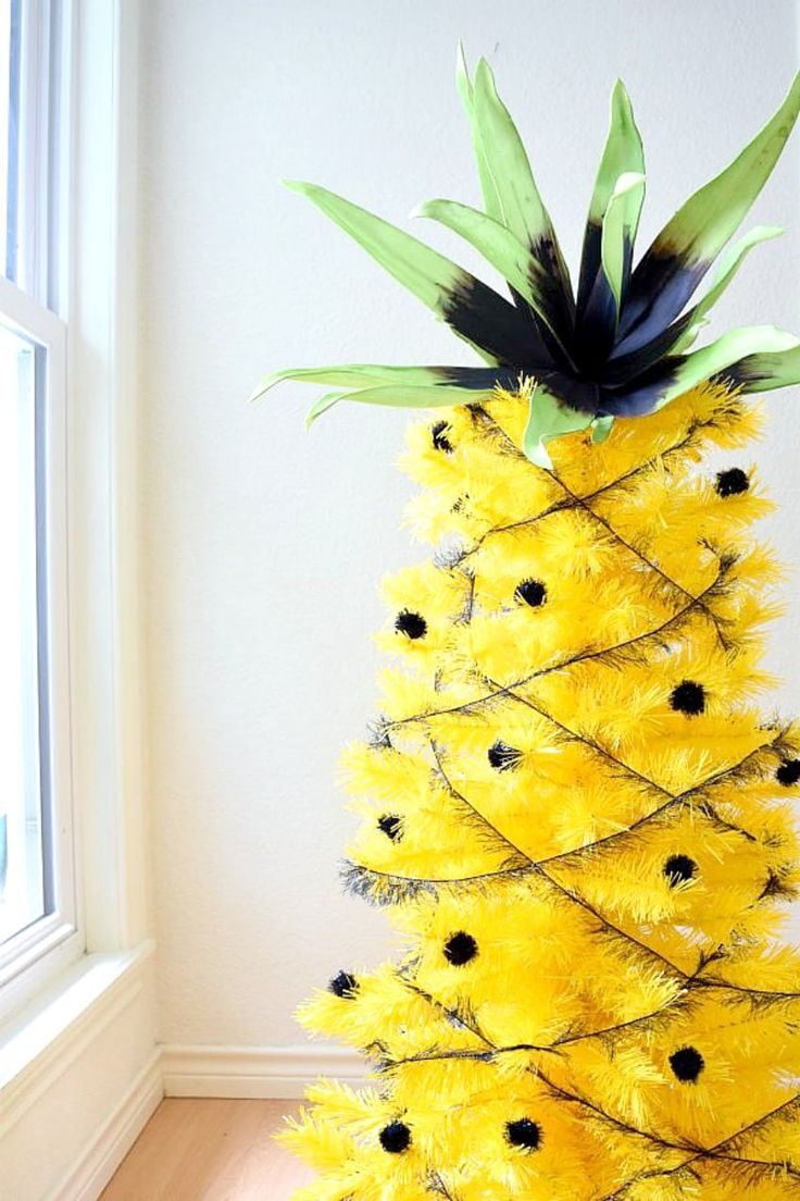 Yay for decorating a year round yellow christmas tree tropical