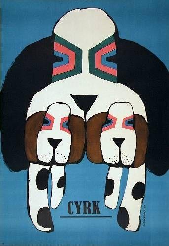 Roman Cieslewicz cyrk 3 psy