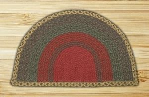 LolaViola - Rug Jute Small Burgundy/Green/Sunflower Braided Slice, $26.00 (http://lolaviola.co/rug-jute-small-burgundy-green-sunflower-braided-slice/)