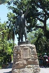 Rhodes statue near Parliament.