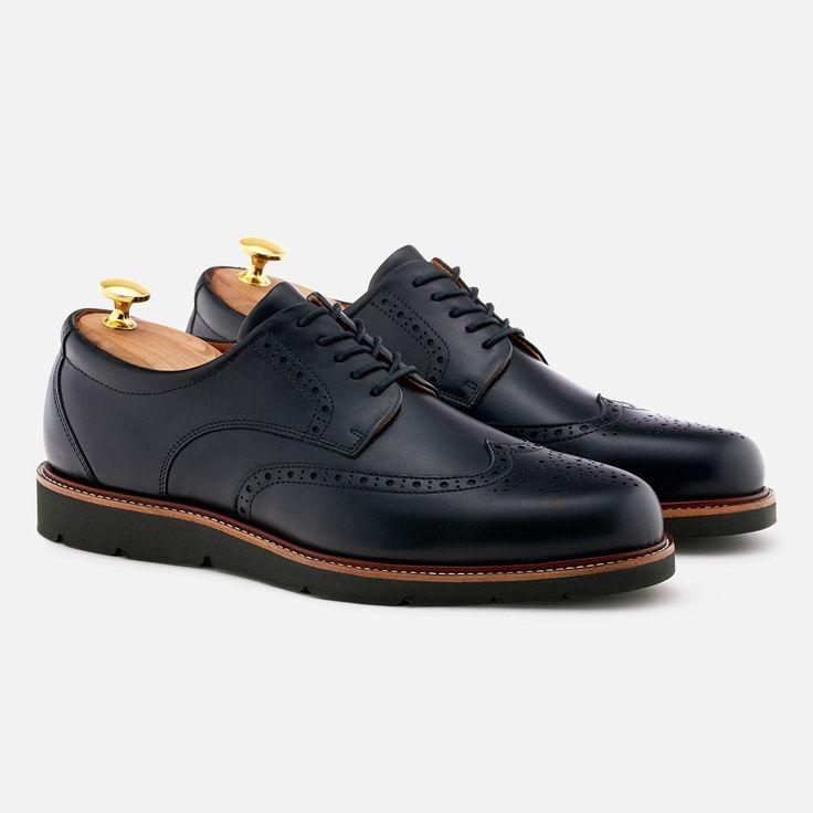 Lewis Wingtip - Calfskin Leather - Black