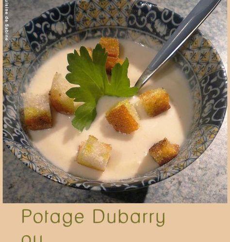 Recette - Potage Dubarry ou crème de chou-fleur | 750g
