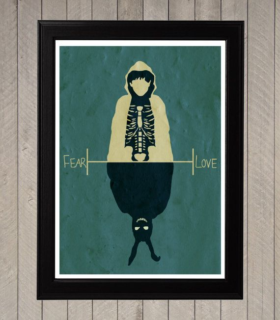 Donnie Darko, Fear and Love Minimalist Poster, Movie Poster, Art Print