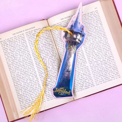 Rapunzel uses her hair for just about everything. Now you can use her hair to hold your place in your favorite book!