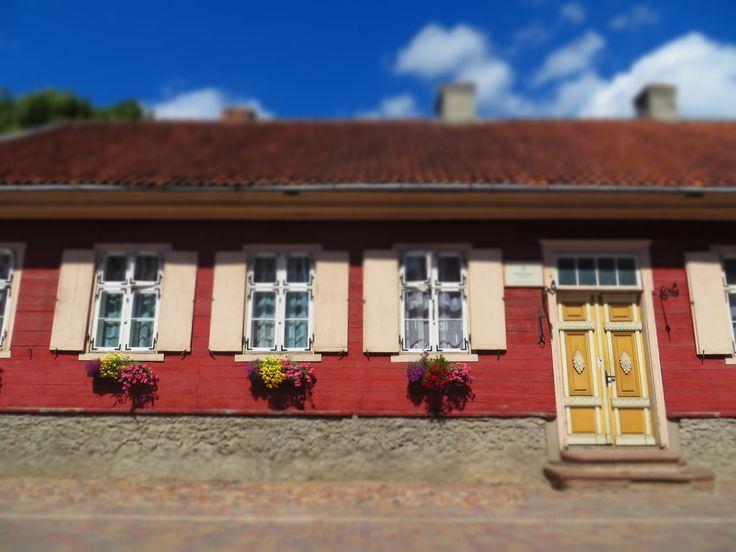 Like a doll house - only real - wooden house in Kuldiga/Goldingen/Latvia