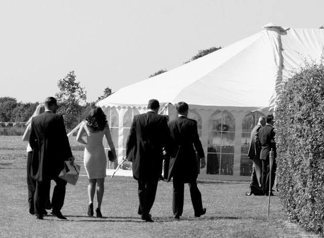 Wedding guests arriving for a marquee wedding .. #summerwedding #marqueewedding