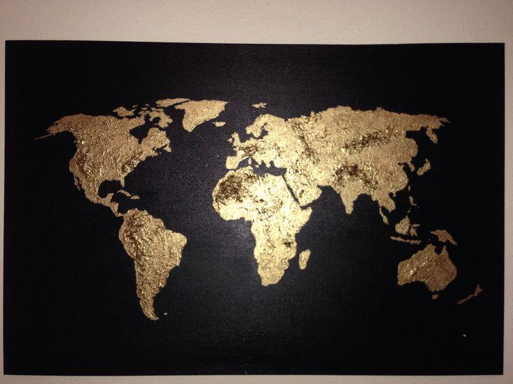 Original world map painting acrylic world map map art globe acrylic painting world map canvas painting  by 10kiaatstreet on Etsy https://www.etsy.com/listing/88509242/original-world-map-painting-acrylic