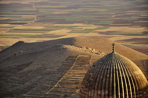 The dome of Ulu Mosque, in Mardin, southeastern Turkey. Mesopotamia, UNESCO World Heritage Site