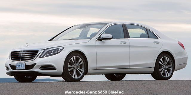 2013 Mercedes-Benz S-Class S350 BlueTec    Price : R1,217,591.00   Engine size : 3.0 turbo diesel  Fuel type : Diesel Fuel tank range average : 1 186km Fuel tank capacity including reserve : 70L Max top speed : 250km/h 0-100km/h : 6.8seconds Gearbox : Automatic Gear Ratios Quantity : 7
