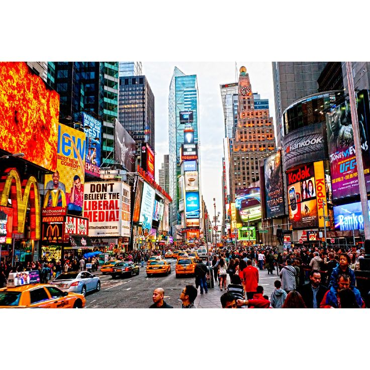 City Life Wall Mural: Architecture: Cityscapes: The Infamous  Hustle And Bustle · Times SquareWall ... Part 37