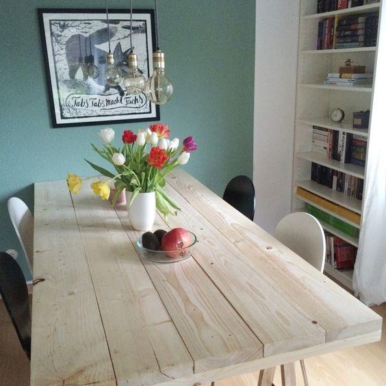 diy projekt ein tisch aus baudielen diy projekte tisch und esszimmer. Black Bedroom Furniture Sets. Home Design Ideas