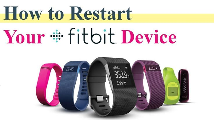 How to Restart or Reset Fitbit Watch Fitness Tracker Smart Band | Steps ...