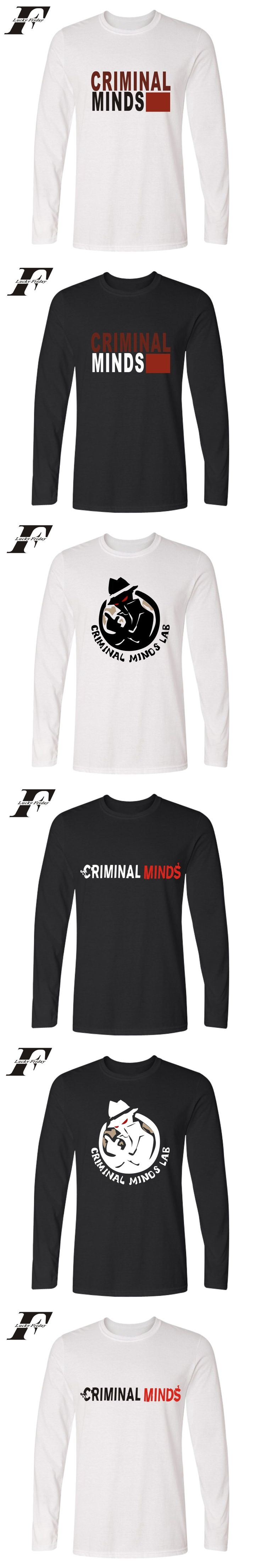 LUCKYFRIDAYF funny t shirts Criminal Minds Long Sleeve fitness Fashion T shirt men Amrican TV Shows cotton soft Tee shirt