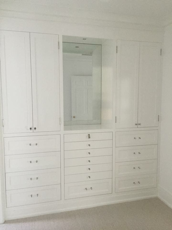 Custom Cabinetry Created By MDM Design Studio Located In Birmingham, Alabama.  Custom Closet Organization