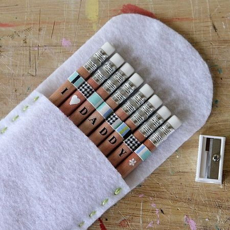 personalized pencils diy..for dad, mom, kids, etc! Such a darling idea.