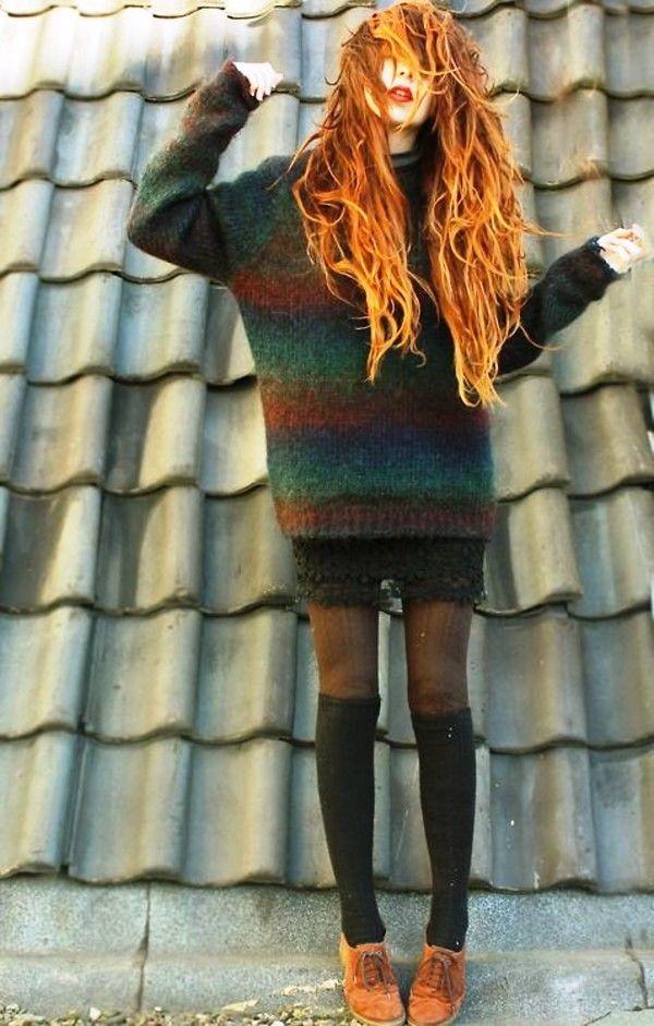 15 niedliche Pullover Wetter Haar Ideen