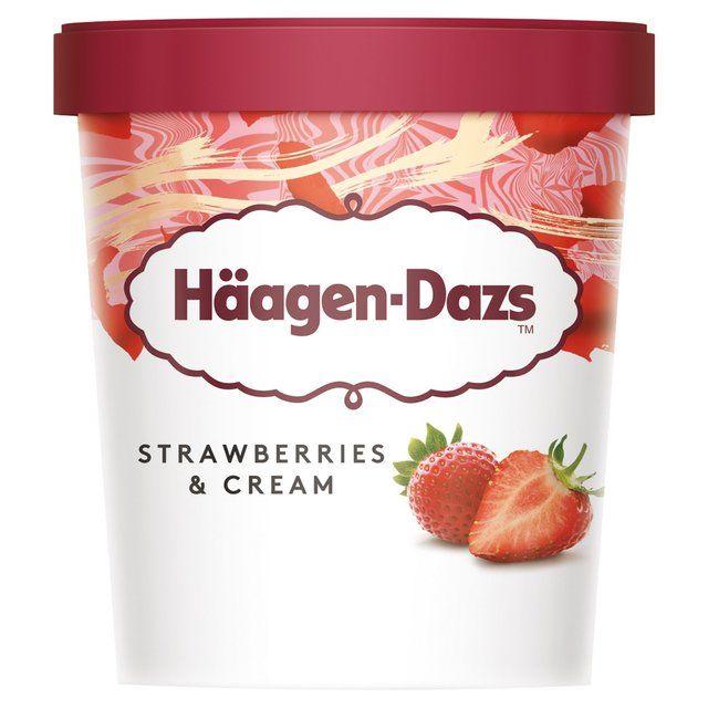 Haagen Dazs Strawberries & Cream Ice cream 500ml from Ocado