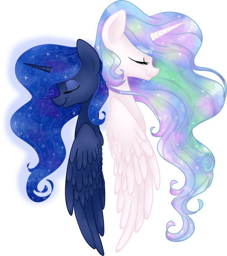 Celestia and Luna by frostykat13.deviantart.com on @deviantART