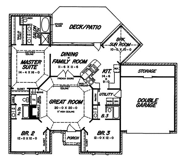 1000 images about house plans on pinterest craftsman for Ranch style house plans with bonus room