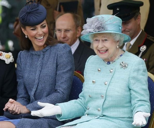 Kate and the Queen. So cute!
