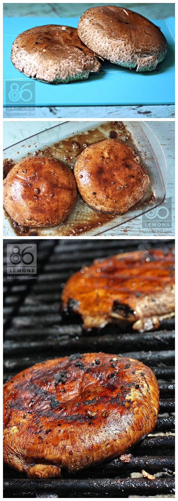 I prepped the portos, Hubs grilled 'em (to perfection, I might add). I knew they would be good, but…