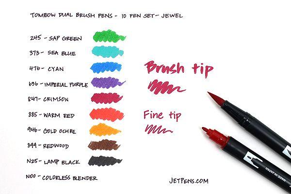 Tombow Dual Brush Pen 10 Pen Set Jewel TOMBOW 56158