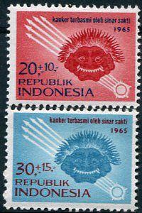 Francobolli - Lotta contro il cancro - Fight against cancer - Stamps Indonesia 1965