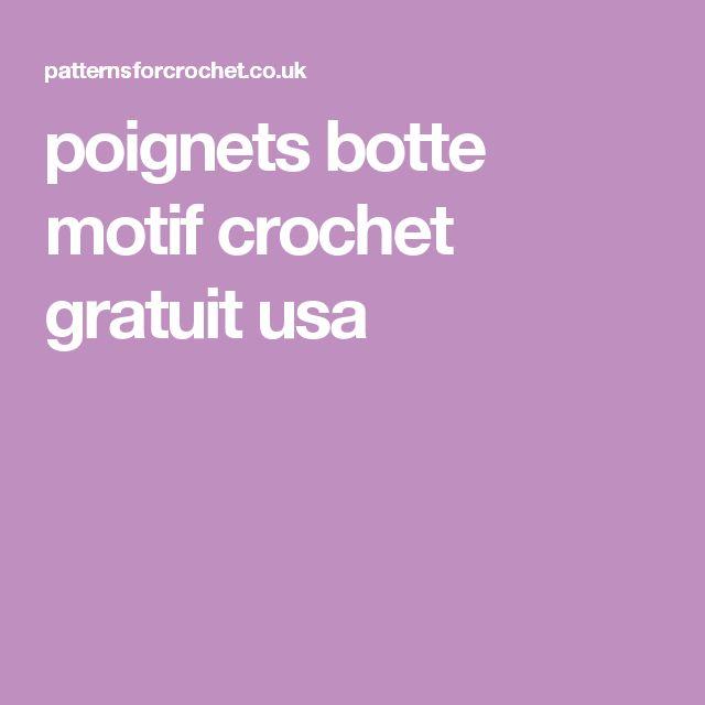 poignets botte motif crochet gratuit usa