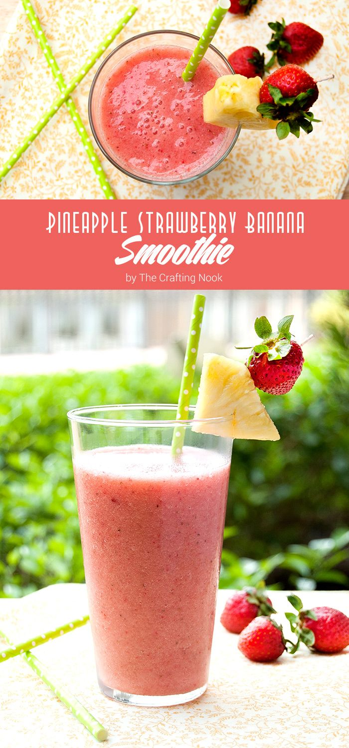 If you are as ready for summer as I am, you need to try this Delicious Pineapple Strawberry Banana Smoothie!!! Easy and so refreshing!!! Come and get the recipe!