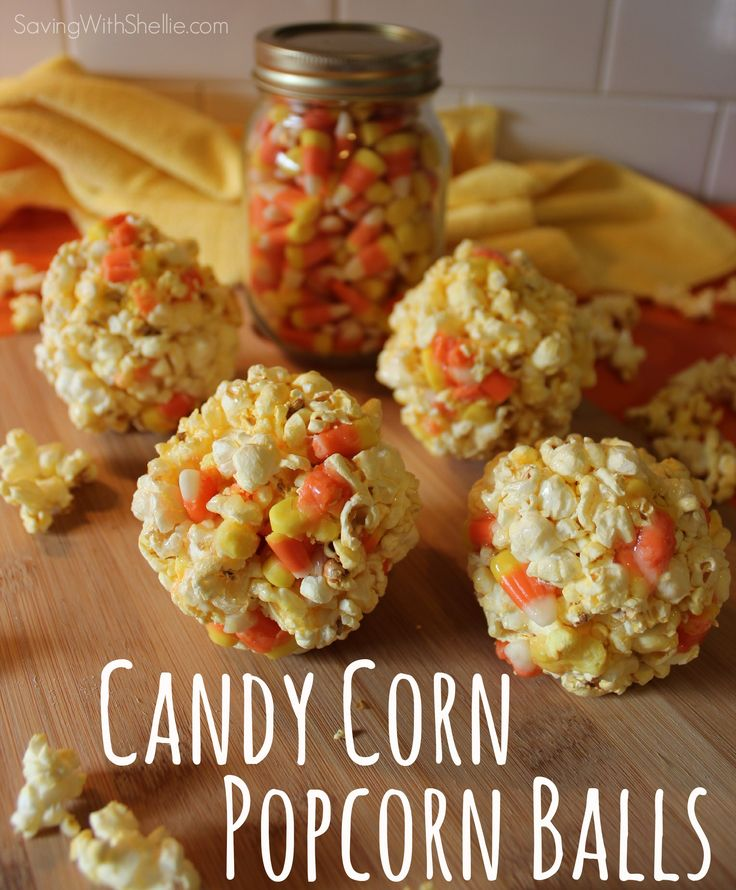 Candy Corn Popcorn Balls - Perfect for Halloween & just 6 ingredients.