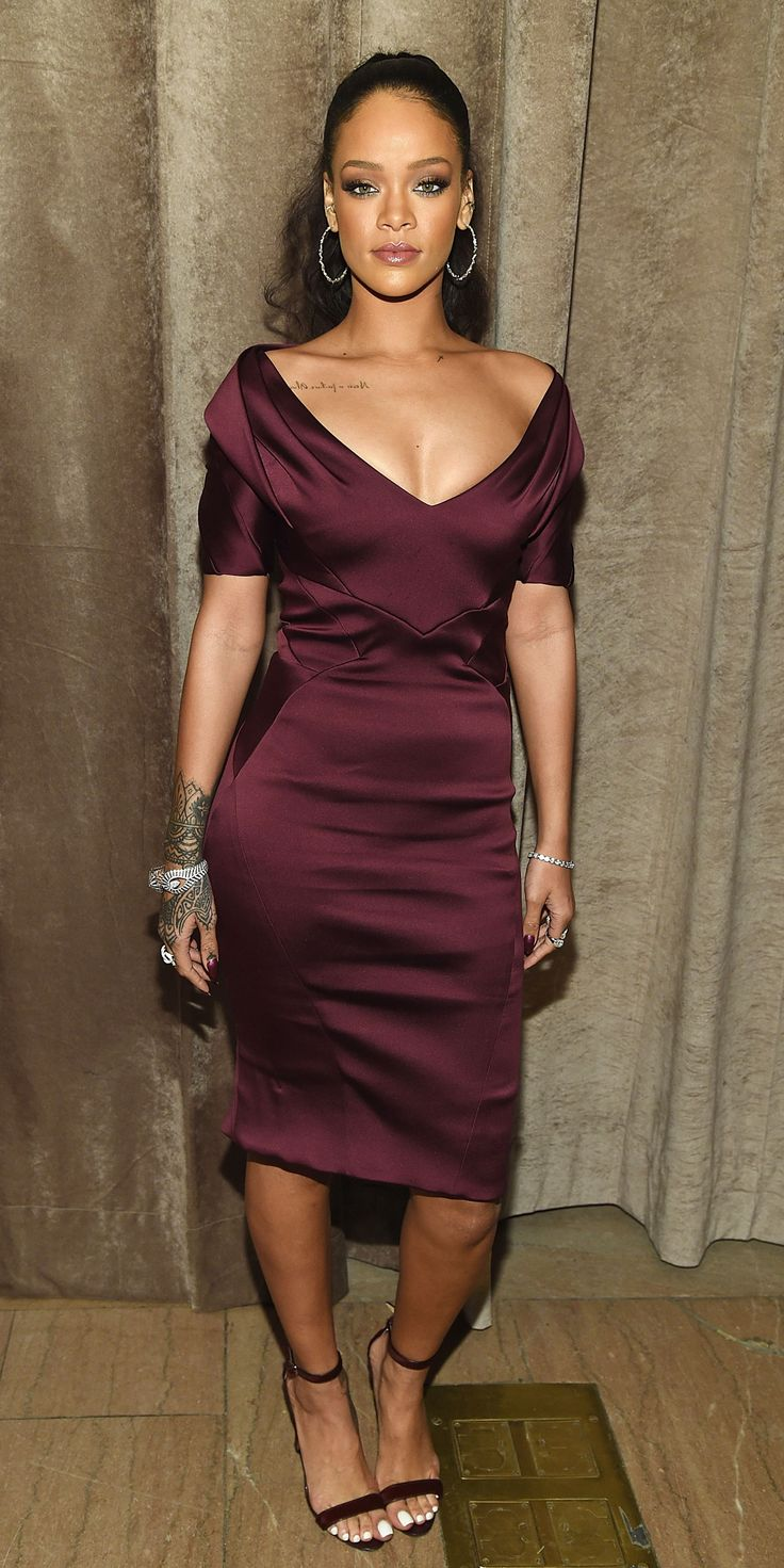 Rihanna's Red Carpet Style - In Zac Posen, 2015 from InStyle.com