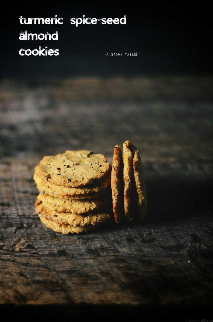 turmeric spiced seed almond gf cookies